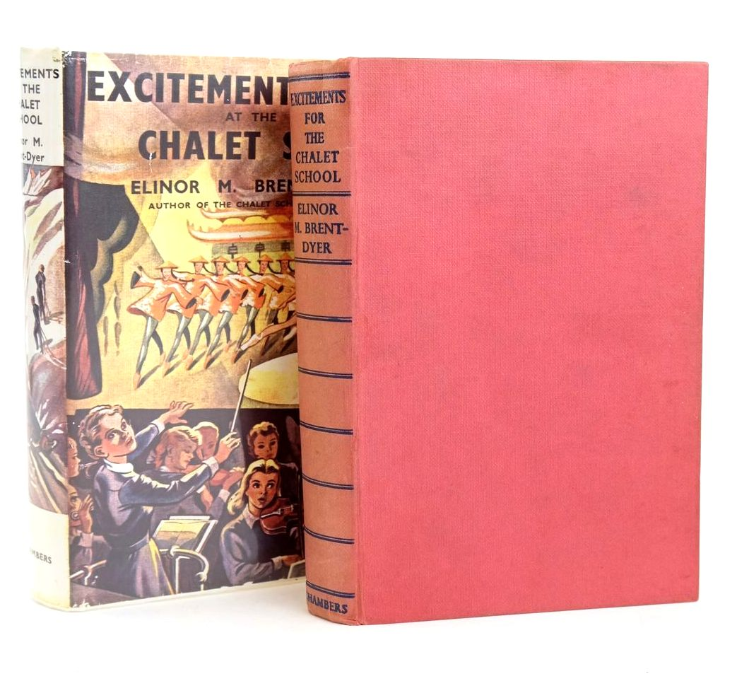 Photo of EXCITEMENTS AT THE CHALET SCHOOL written by Brent-Dyer, Elinor M. illustrated by Brook, D. published by W. & R. Chambers Limited (STOCK CODE: 1319367)  for sale by Stella & Rose's Books