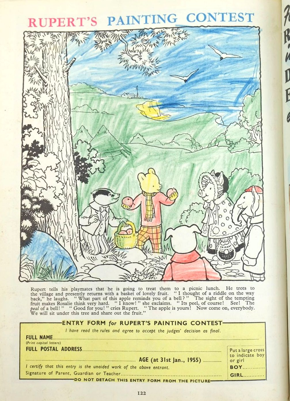 Photo of RUPERT ANNUAL 1954 - THE NEW RUPERT written by Bestall, Alfred illustrated by Bestall, Alfred published by Daily Express (STOCK CODE: 1319530)  for sale by Stella & Rose's Books