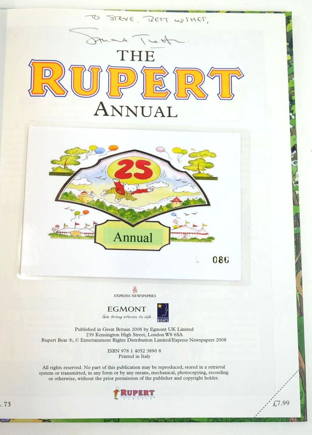 Photo of RUPERT ANNUAL 2008 written by Trotter, Stuart Bowles, Anna illustrated by Trotter, Stuart published by Egmont Uk Limited (STOCK CODE: 1319558)  for sale by Stella & Rose's Books