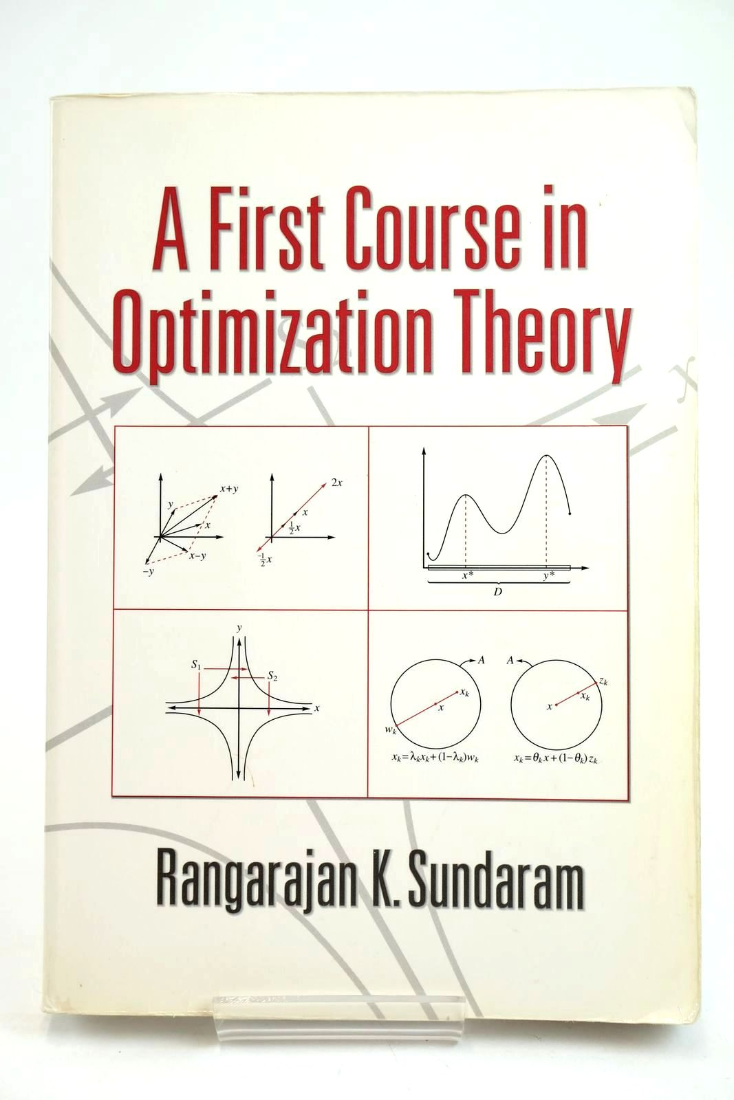 Photo of A FIRST COURSE IN OPTIMIZATION THEORY written by Sundaram, Rangarajan K. published by Cambridge University Press (STOCK CODE: 1319629)  for sale by Stella & Rose's Books