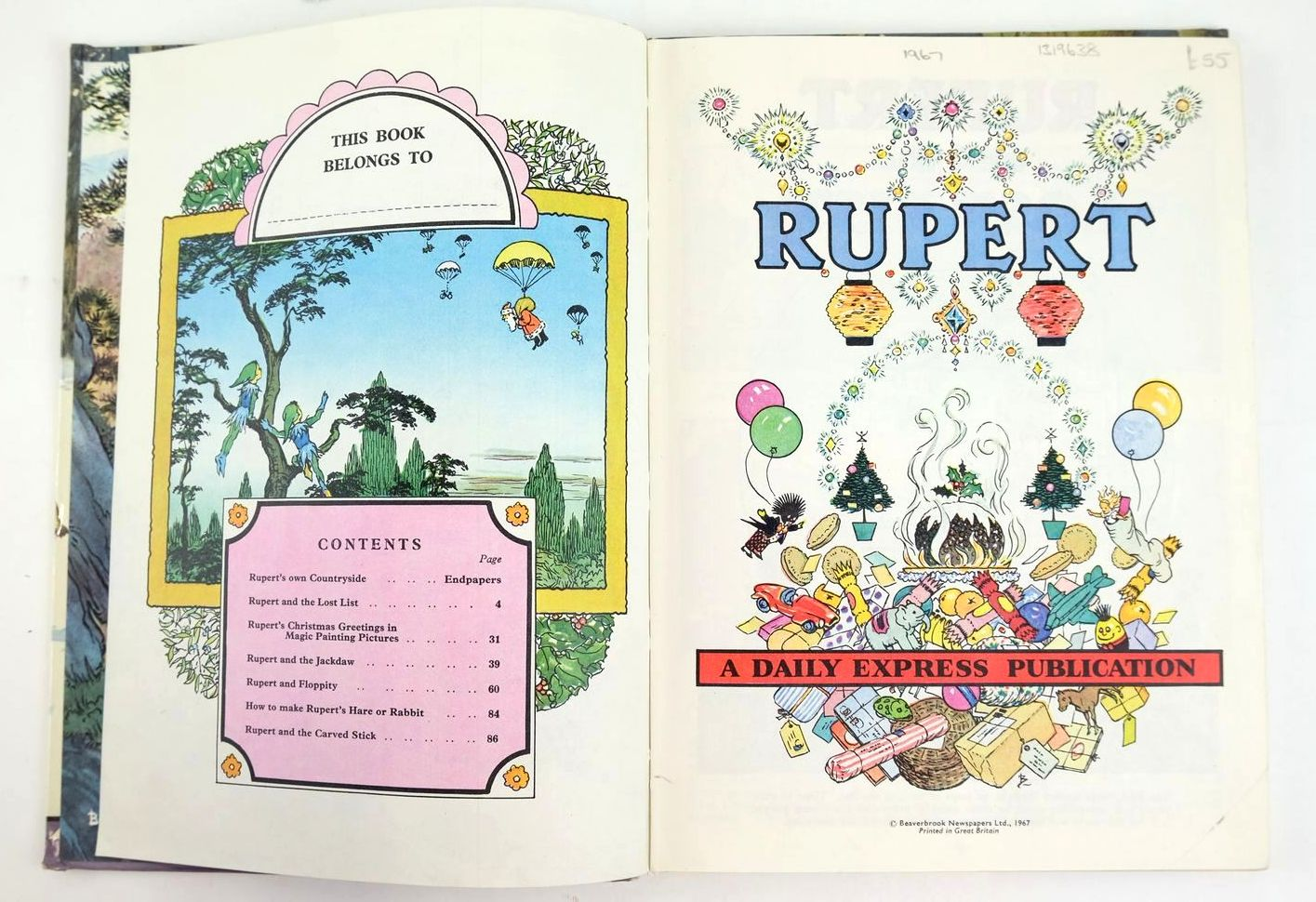 Photo of RUPERT ANNUAL 1967 written by Bestall, Alfred illustrated by Bestall, Alfred published by Daily Express (STOCK CODE: 1319638)  for sale by Stella & Rose's Books