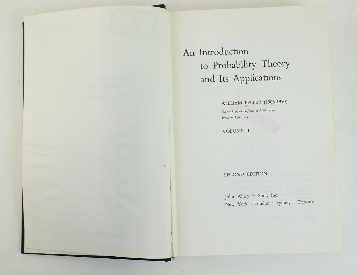 Photo of AN INTRODUCTION TO PROBABILITY THEORY AND ITS APPLICATIONS VOLUME II written by Feller, William published by John Wiley & Sons (STOCK CODE: 1319669)  for sale by Stella & Rose's Books