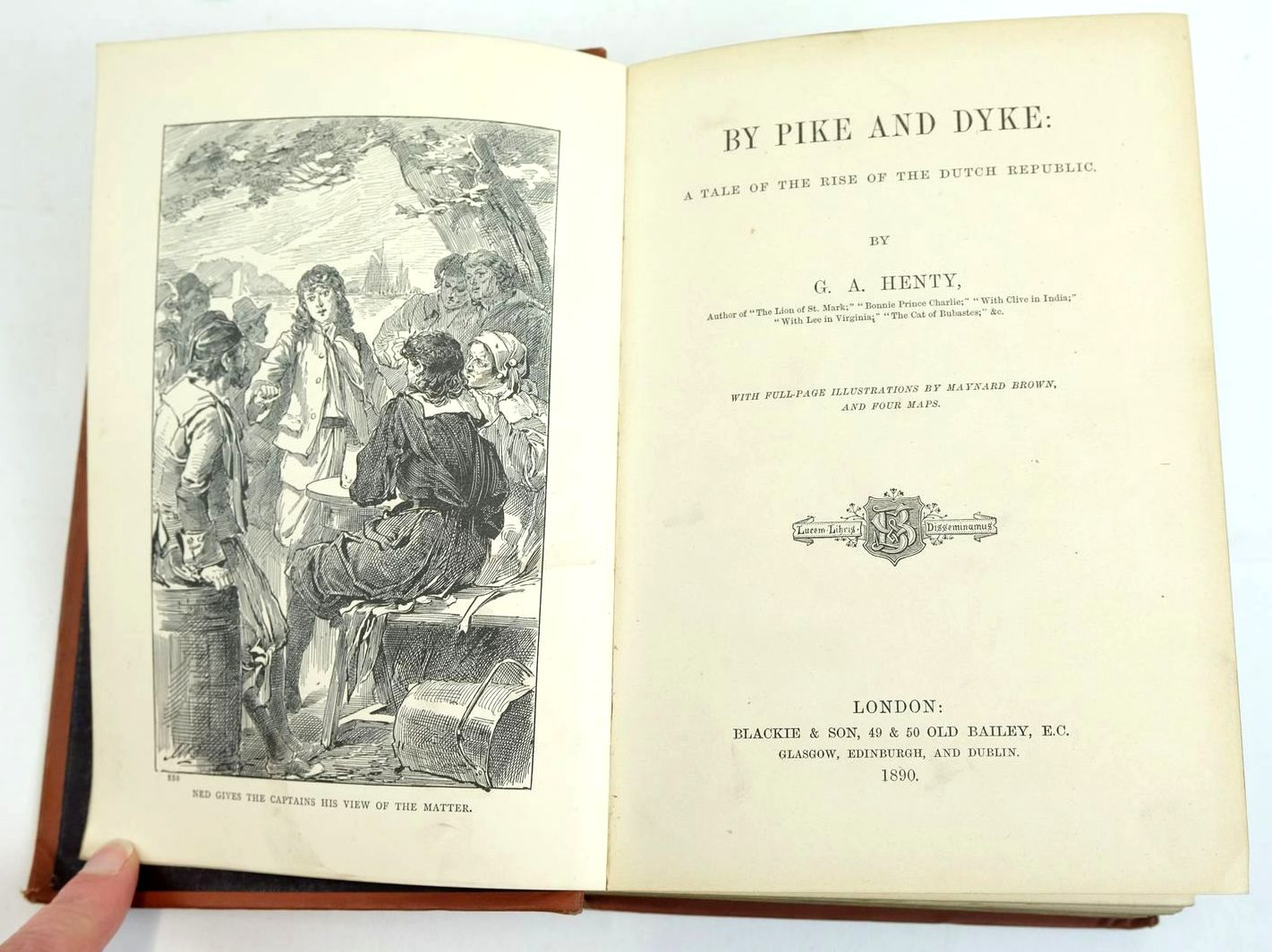 Photo of BY PIKE AND DYKE written by Henty, G.A. illustrated by Brown, Maynard published by Blackie & Son (STOCK CODE: 1319686)  for sale by Stella & Rose's Books
