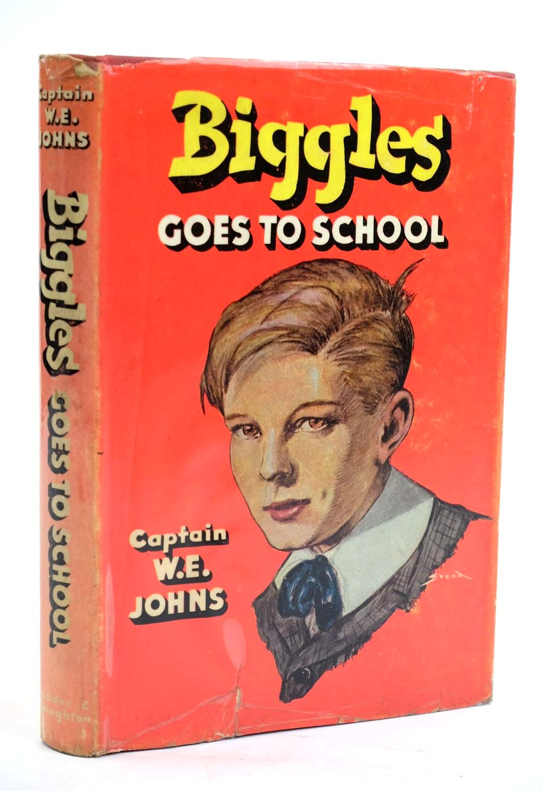 Photo of BIGGLES GOES TO SCHOOL written by Johns, W.E. illustrated by Stead,  published by Hodder & Stoughton (STOCK CODE: 1319740)  for sale by Stella & Rose's Books