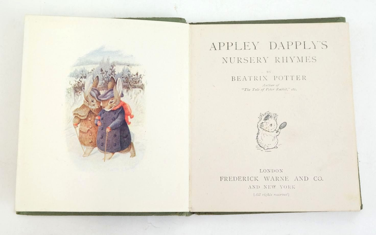 Photo of APPLEY DAPPLY'S NURSERY RHYMES written by Potter, Beatrix illustrated by Potter, Beatrix published by Frederick Warne & Co. (STOCK CODE: 1320091)  for sale by Stella & Rose's Books