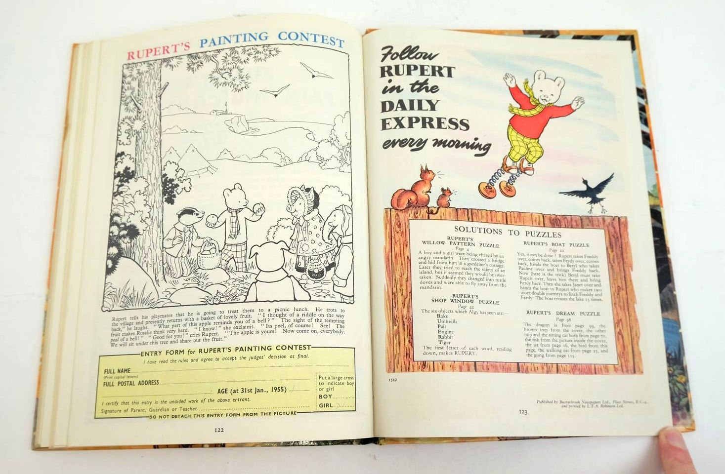 Photo of RUPERT ANNUAL 1954 - THE NEW RUPERT written by Bestall, Alfred illustrated by Bestall, Alfred published by Daily Express (STOCK CODE: 1320479)  for sale by Stella & Rose's Books