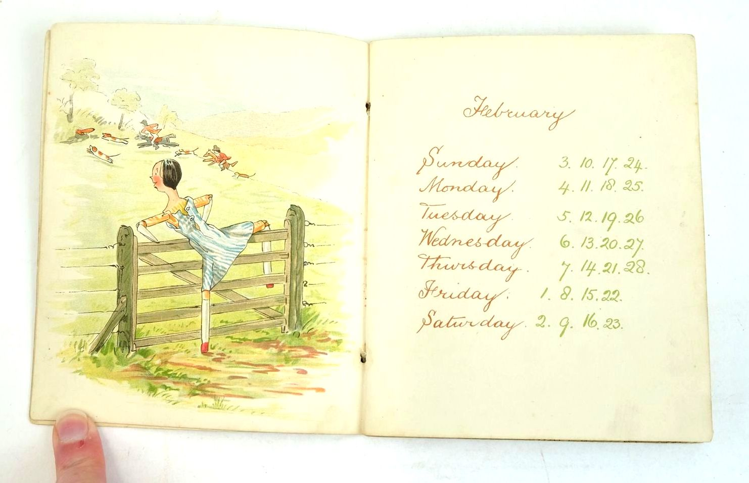Photo of CATHERINE SUSAN'S CALENDAR 1907 written by Ainslie, Kathleen illustrated by Ainslie, Kathleen published by Castell Brothers Ltd. (STOCK CODE: 1320559)  for sale by Stella & Rose's Books
