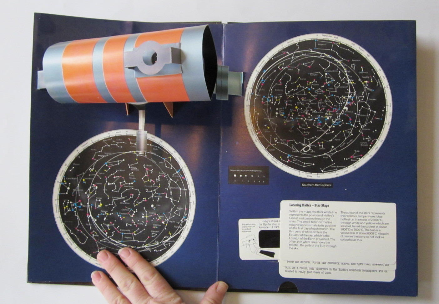 Photo of HALLEY'S COMET POP-UP BOOK written by Moore, Patrick Couper, Heather illustrated by Doherty, Paul published by Deans International Publishing (STOCK CODE: 1401042)  for sale by Stella & Rose's Books