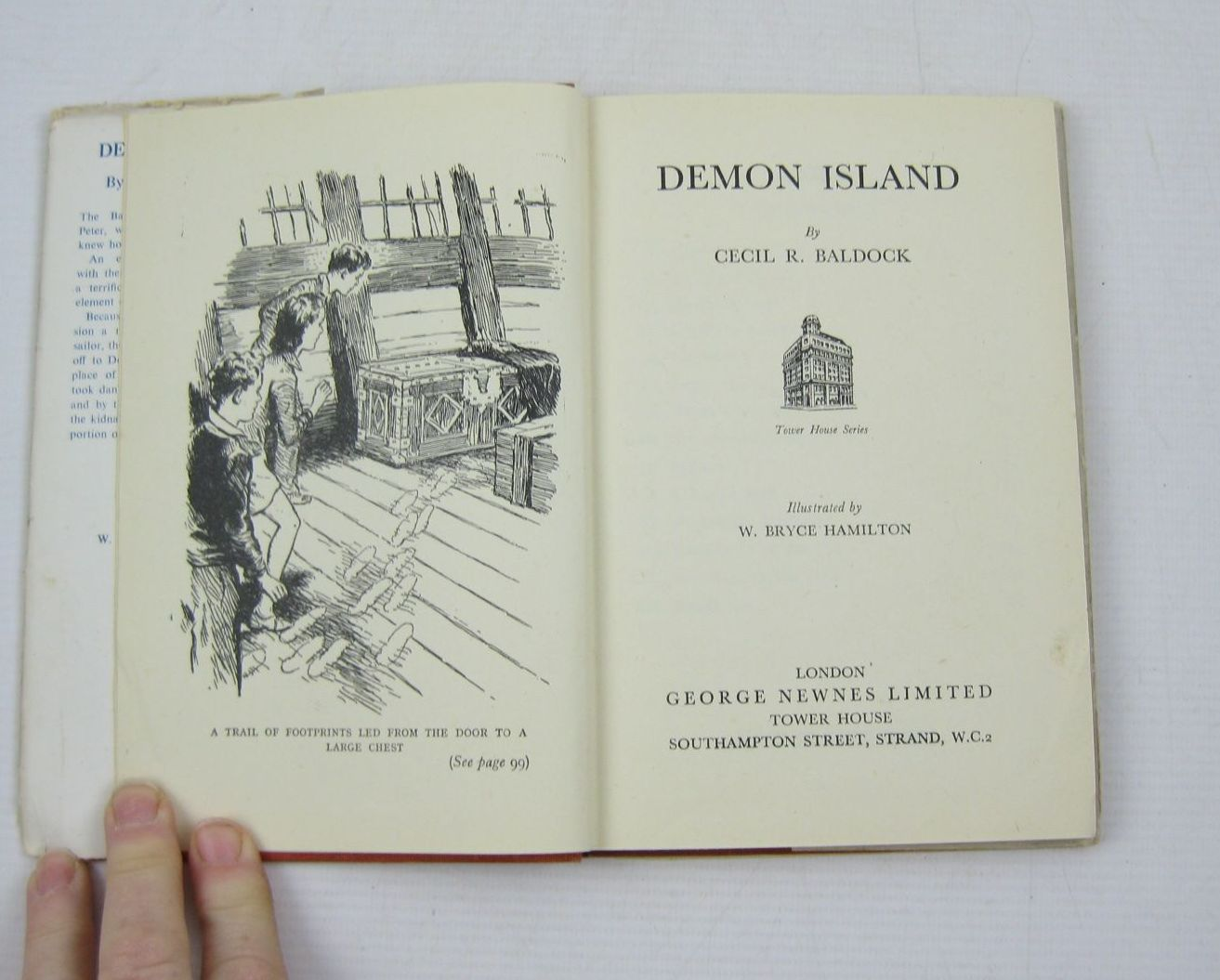 Photo of DEMON ISLAND written by Baldock, Cecil R. illustrated by Hamilton, W. Bryce published by George Newnes Limited (STOCK CODE: 1402968)  for sale by Stella & Rose's Books