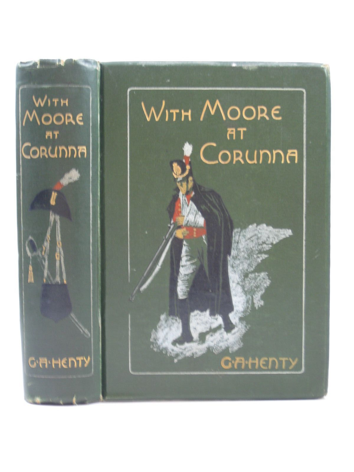 Photo of WITH MOORE AT CORUNNA written by Henty, G.A. illustrated by Paget, Wal published by Blackie & Son Ltd. (STOCK CODE: 1403478)  for sale by Stella & Rose's Books