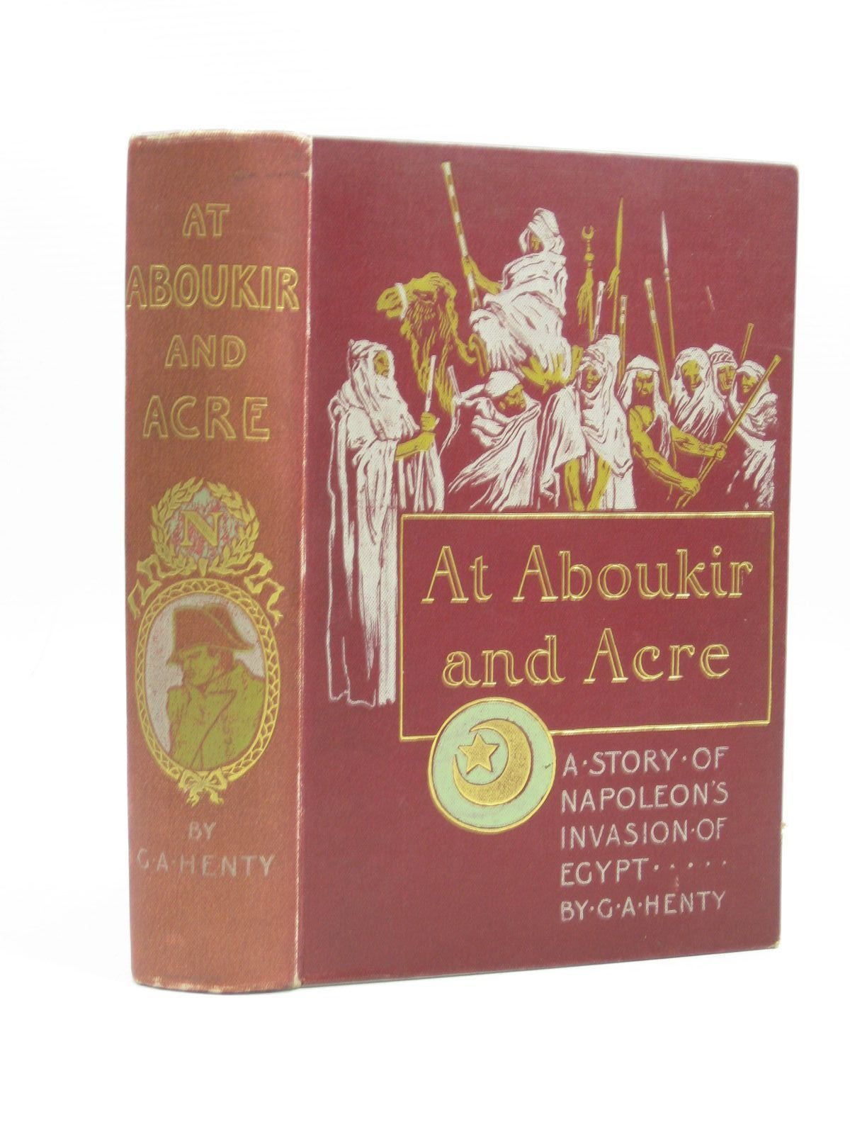 Photo of AT ABOUKIR AND ACRE written by Henty, G.A. illustrated by Rainey, William published by Blackie & Son Ltd., William Briggs (STOCK CODE: 1403674)  for sale by Stella & Rose's Books