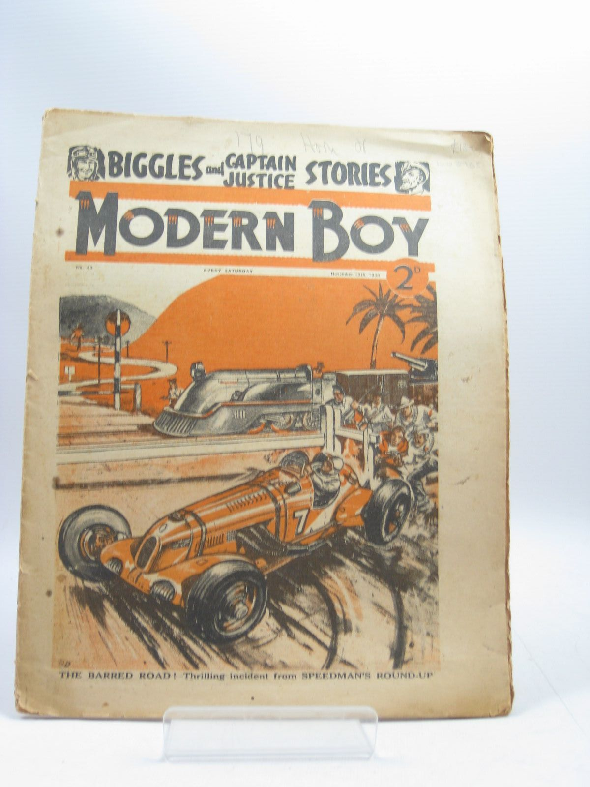 Photo of MODERN BOY No. 40 NOVEMBER 19TH 1938 written by Johns, W.E. Roberts, Murray et al,  published by The Amalgamated Press (STOCK CODE: 1403765)  for sale by Stella & Rose's Books
