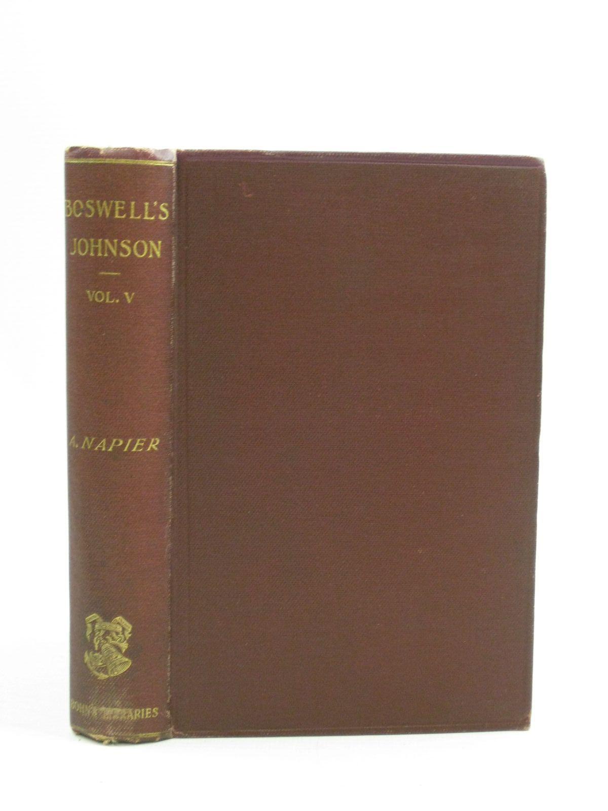 Photo of THE LIFE OF SAMUEL JOHNSON VOLUME V- Stock Number: 1404562