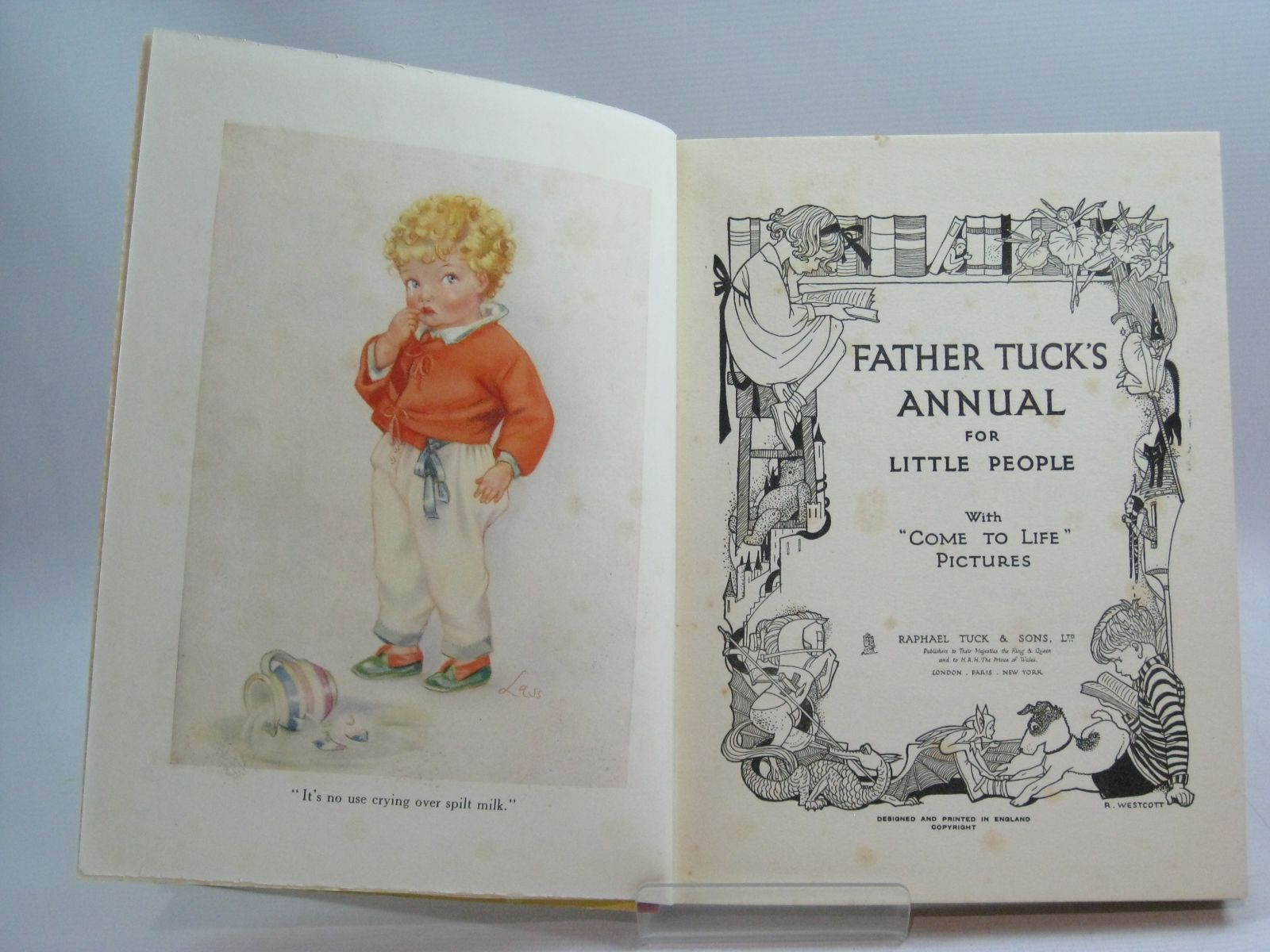 Photo of FATHER TUCK'S ANNUAL FOR LITTLE PEOPLE WITH 'COME TO LIFE' PICTURES written by Woolf, Rose Yeatman Morin, Maud et al, illustrated by Wain, Louis Robinson, G. et al., published by Raphael Tuck & Sons Ltd. (STOCK CODE: 1404893)  for sale by Stella & Rose's Books
