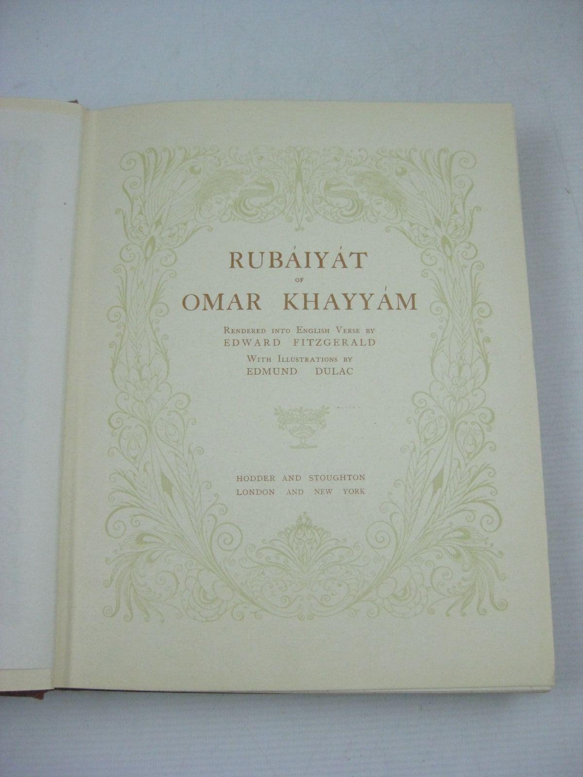 Photo of RUBAIYAT OF OMAR KHAYYAM written by Khayyam, Omar Fitzgerald, Edward illustrated by Dulac, Edmund published by Hodder & Stoughton (STOCK CODE: 1404947)  for sale by Stella & Rose's Books