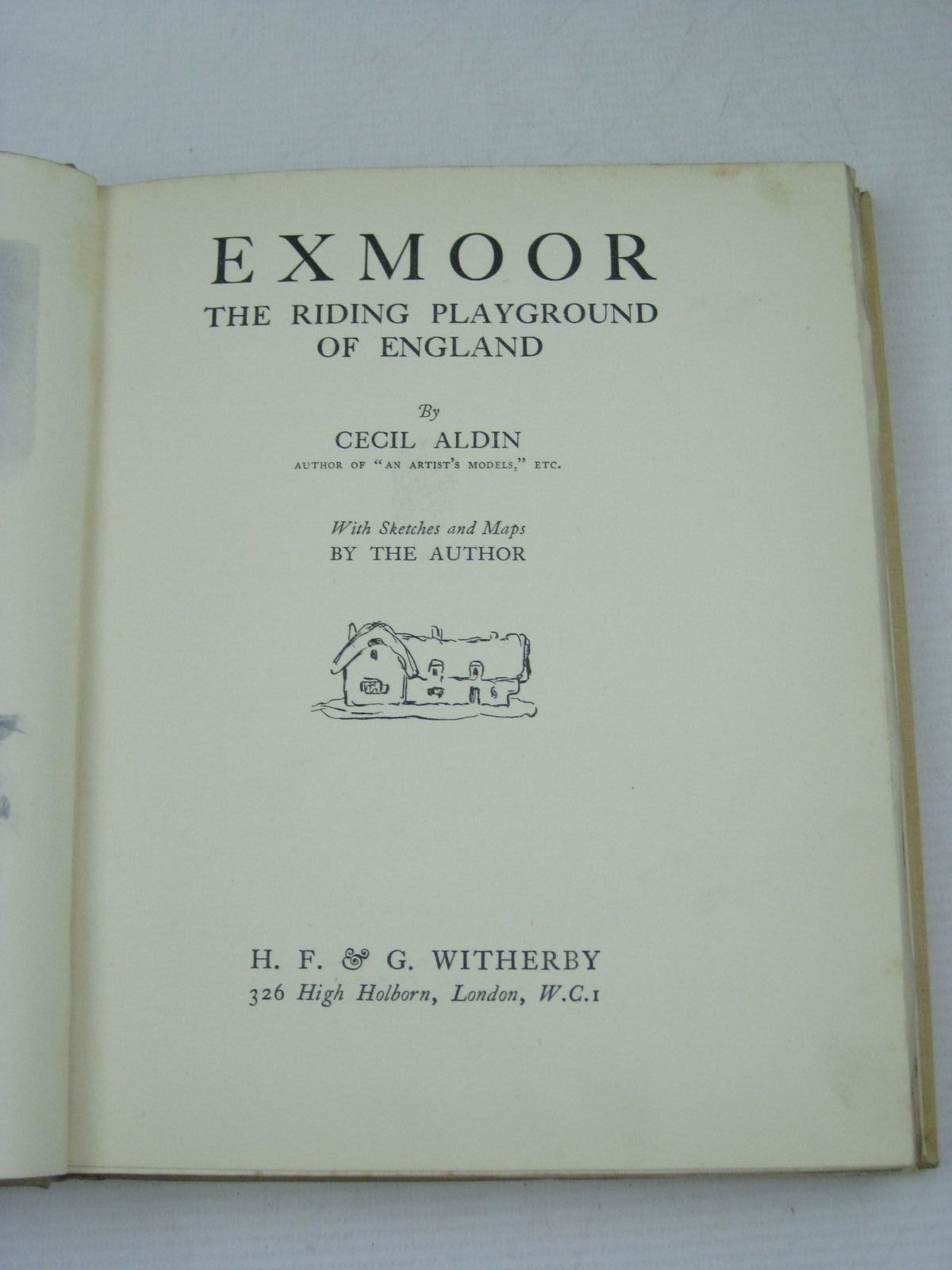 Photo of EXMOOR - THE RIDING PLAYGROUND OF ENGLAND written by Aldin, Cecil illustrated by Aldin, Cecil published by H. F. & G. Witherby (STOCK CODE: 1405205)  for sale by Stella & Rose's Books