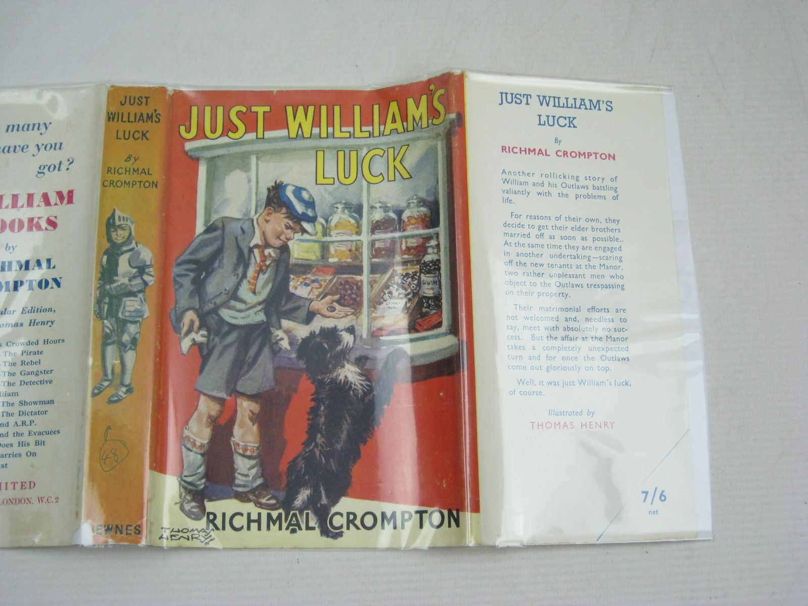 Photo of JUST WILLIAM'S LUCK written by Crompton, Richmal illustrated by Henry, Thomas published by George Newnes Ltd. (STOCK CODE: 1405543)  for sale by Stella & Rose's Books