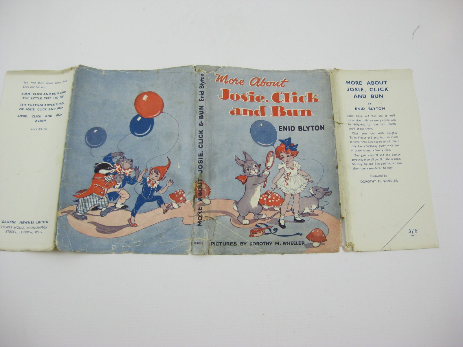 Photo of MORE ABOUT JOSIE, CLICK AND BUN written by Blyton, Enid illustrated by Wheeler, Dorothy M. published by George Newnes Ltd. (STOCK CODE: 1406147)  for sale by Stella & Rose's Books