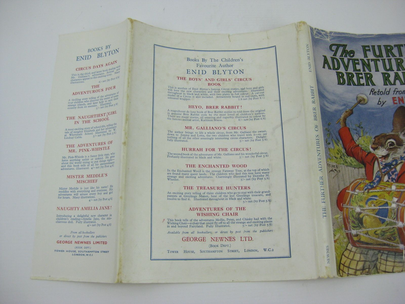 Photo of THE FURTHER ADVENTURES OF BRER RABBIT written by Blyton, Enid illustrated by Aris, Ernest A. published by George Newnes Limited (STOCK CODE: 1406153)  for sale by Stella & Rose's Books
