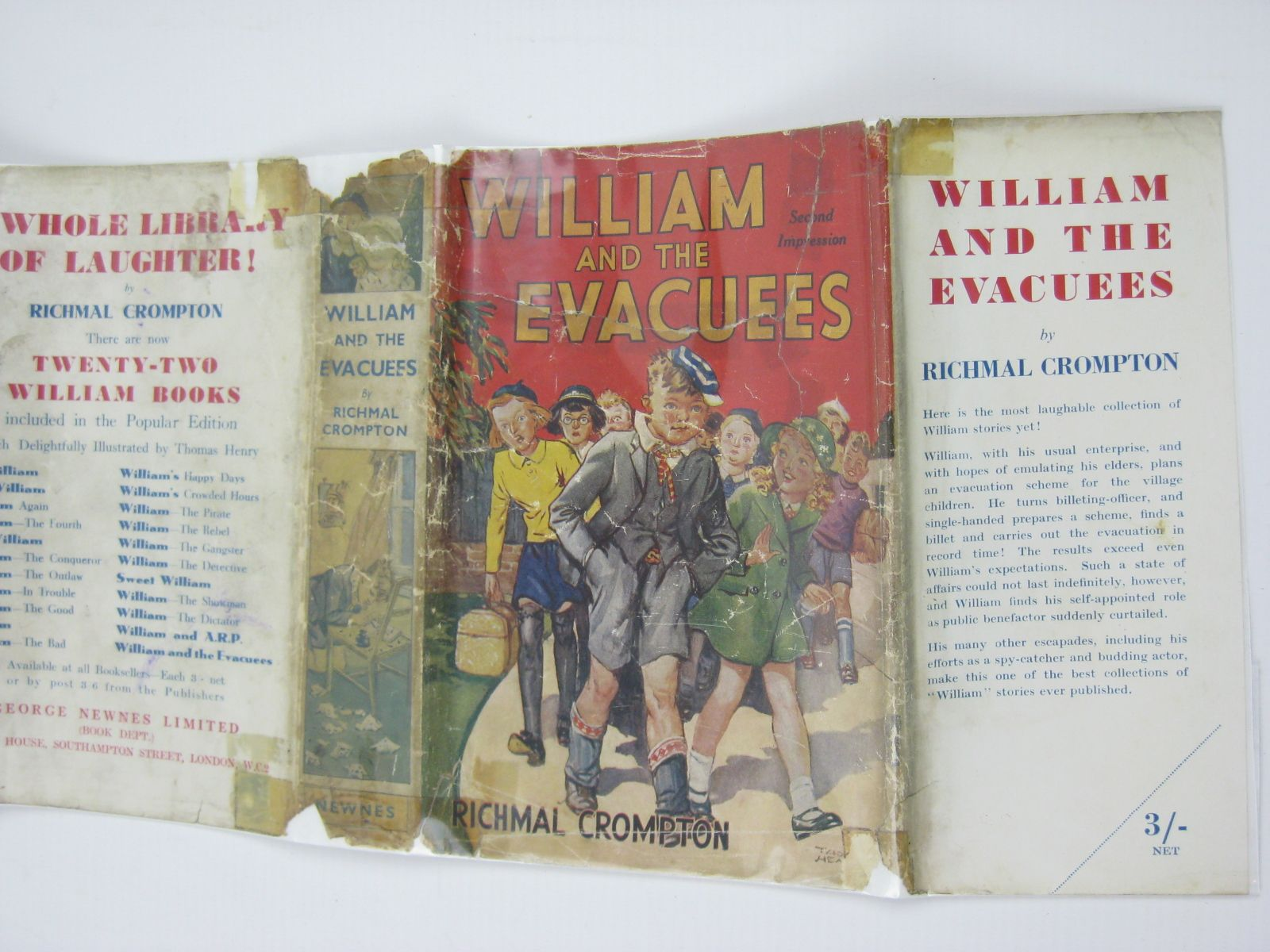 Photo of WILLIAM AND THE EVACUEES written by Crompton, Richmal illustrated by Henry, Thomas published by George Newnes Ltd. (STOCK CODE: 1406215)  for sale by Stella & Rose's Books