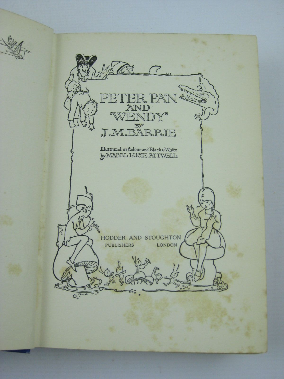 Photo of PETER PAN AND WENDY written by Barrie, J.M. illustrated by Attwell, Mabel Lucie published by Hodder & Stoughton (STOCK CODE: 1406751)  for sale by Stella & Rose's Books