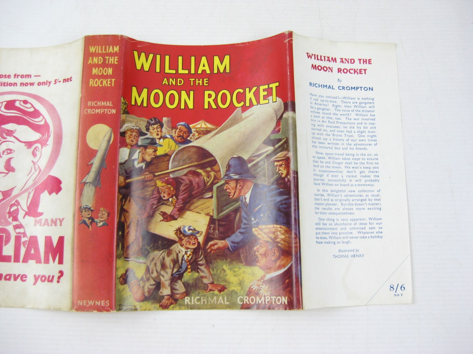 Photo of WILLIAM AND THE MOON ROCKET written by Crompton, Richmal illustrated by Henry, Thomas published by George Newnes Limited (STOCK CODE: 1503784)  for sale by Stella & Rose's Books