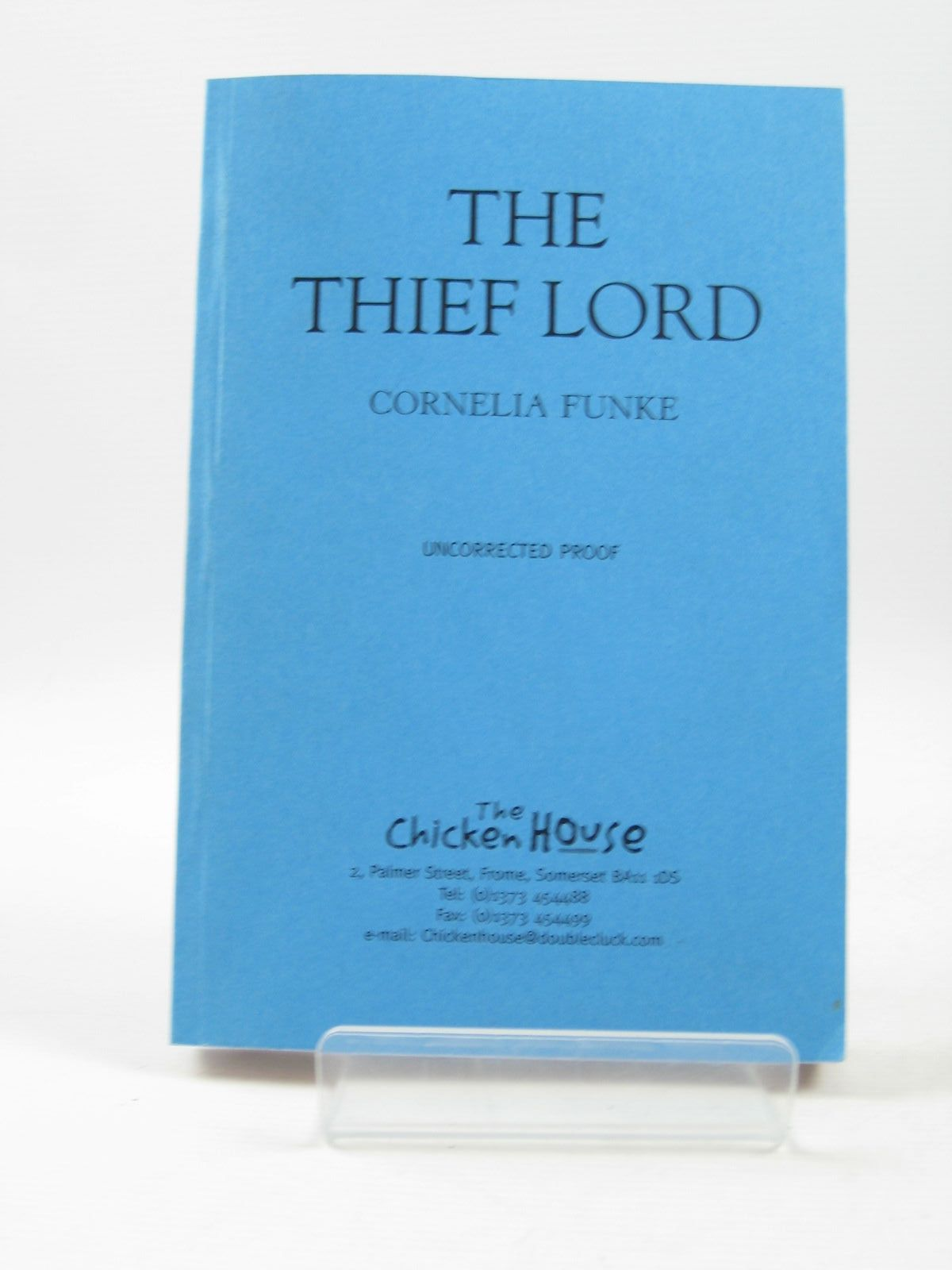 Photo of THE THIEF LORD written by Funke, Cornelia illustrated by Funke, Cornelia published by The Chicken House (STOCK CODE: 1503838)  for sale by Stella & Rose's Books