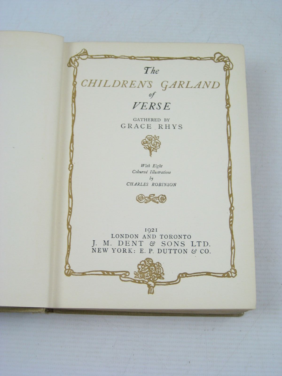 Photo of THE CHILDREN'S GARLAND OF VERSE written by Rhys, Grace