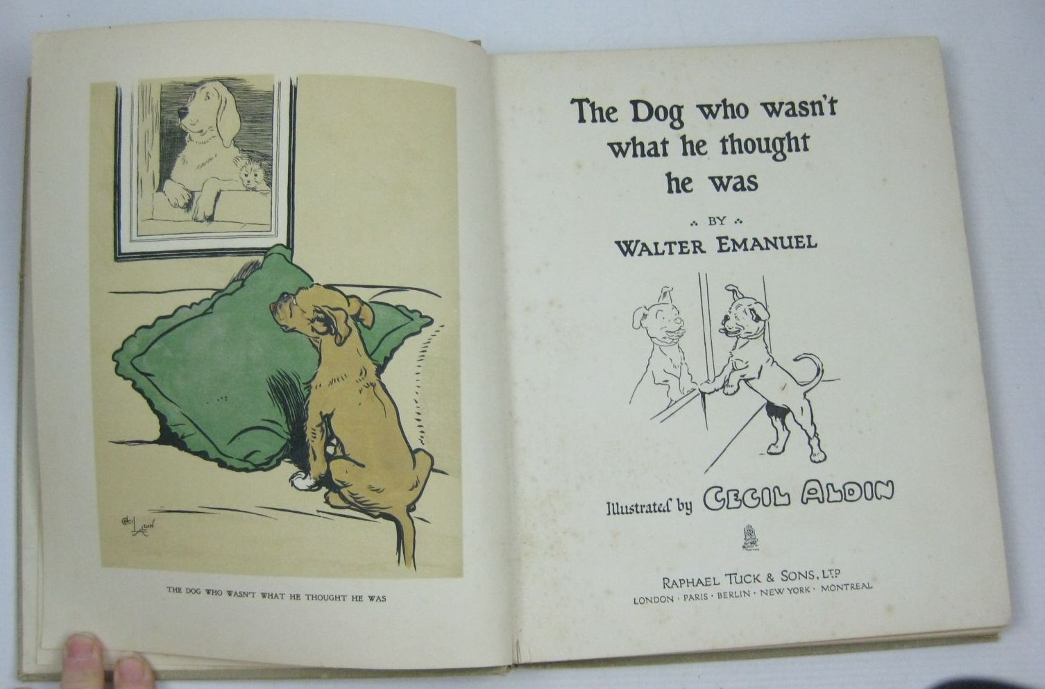 Photo of THE DOG WHO WASN'T WHAT HE THOUGHT HE WAS written by Emanuel, Walter illustrated by Aldin, Cecil published by Raphael Tuck & Sons Ltd. (STOCK CODE: 1504626)  for sale by Stella & Rose's Books