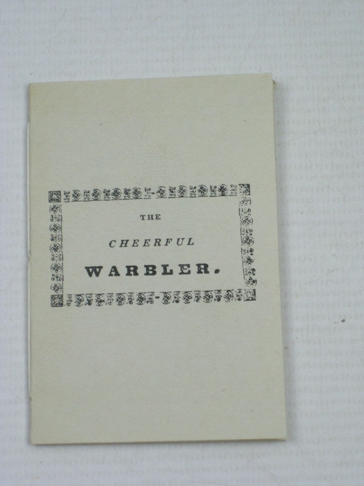 Photo of THE CHEERFUL WARBLER published by Bodleian Library (STOCK CODE: 1504670)  for sale by Stella & Rose's Books