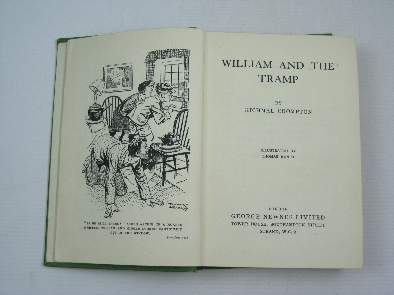 Photo of WILLIAM AND THE TRAMP written by Crompton, Richmal illustrated by Henry, Thomas published by George Newnes Ltd. (STOCK CODE: 1504938)  for sale by Stella & Rose's Books
