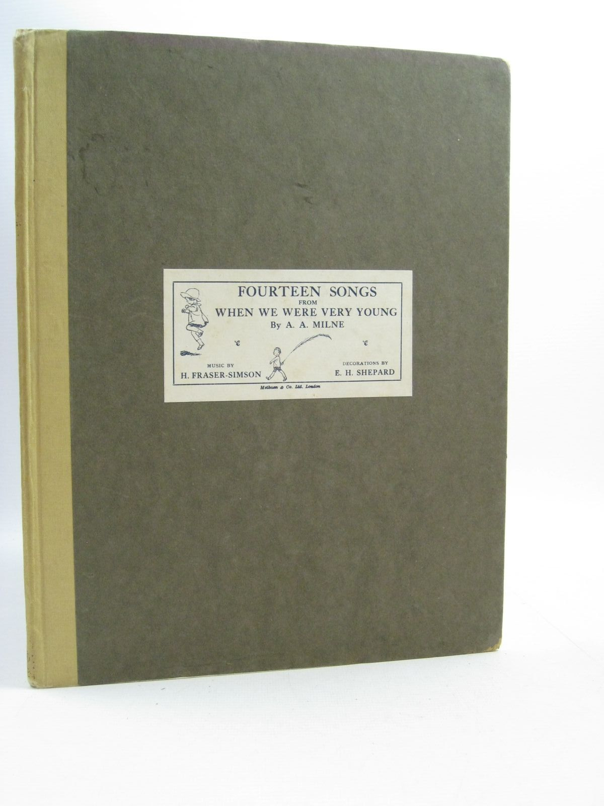 Photo of FOURTEEN SONGS FROM WHEN WE WERE VERY YOUNG written by Milne, A.A. Fraser-Simson, H. illustrated by Shepard, E.H. published by Methuen & Co. Ltd., Ascherberg, Hopwood & Crew Ltd. (STOCK CODE: 1505033)  for sale by Stella & Rose's Books