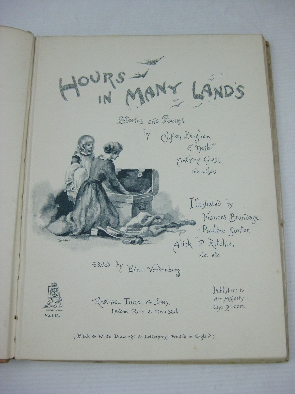 Photo of HOURS IN MANY LANDS written by Vredenburg, Edric