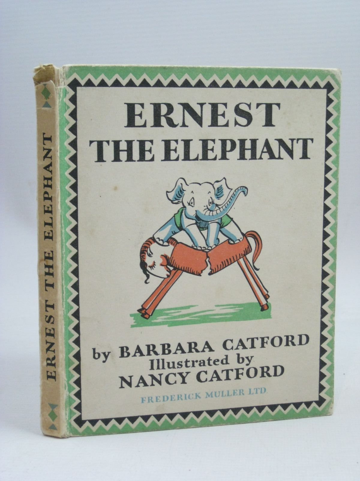 Photo of ERNEST THE ELEPHANT written by Catford, Barbara illustrated by Catford, Nancy published by Frederick Muller Ltd. (STOCK CODE: 1506316)  for sale by Stella & Rose's Books