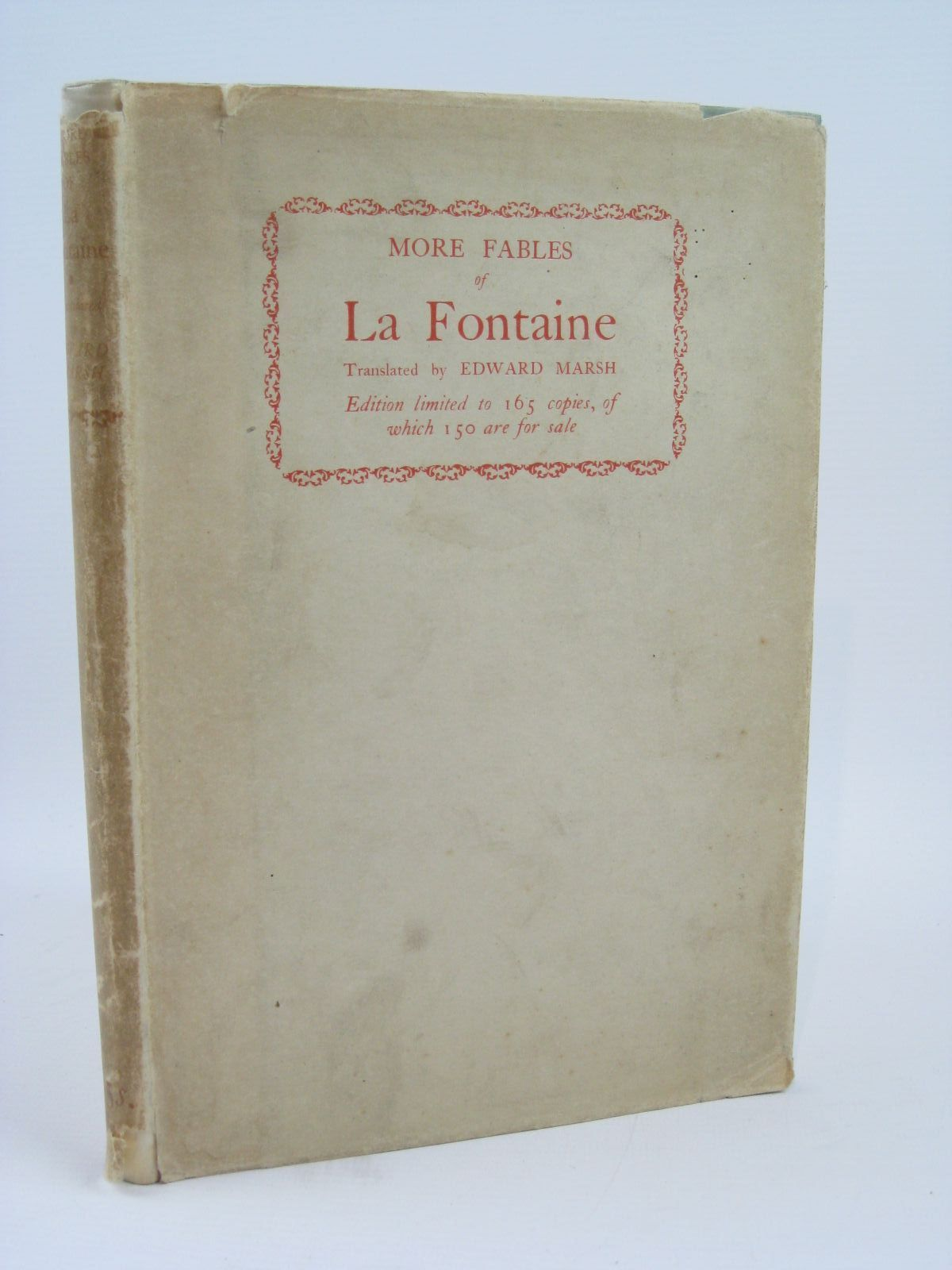 Photo of MORE FABLES OF LA FONTAINE written by De La Fontaine, Jean Marsh, Edward published by William Heinemann Ltd. (STOCK CODE: 1506863)  for sale by Stella & Rose's Books