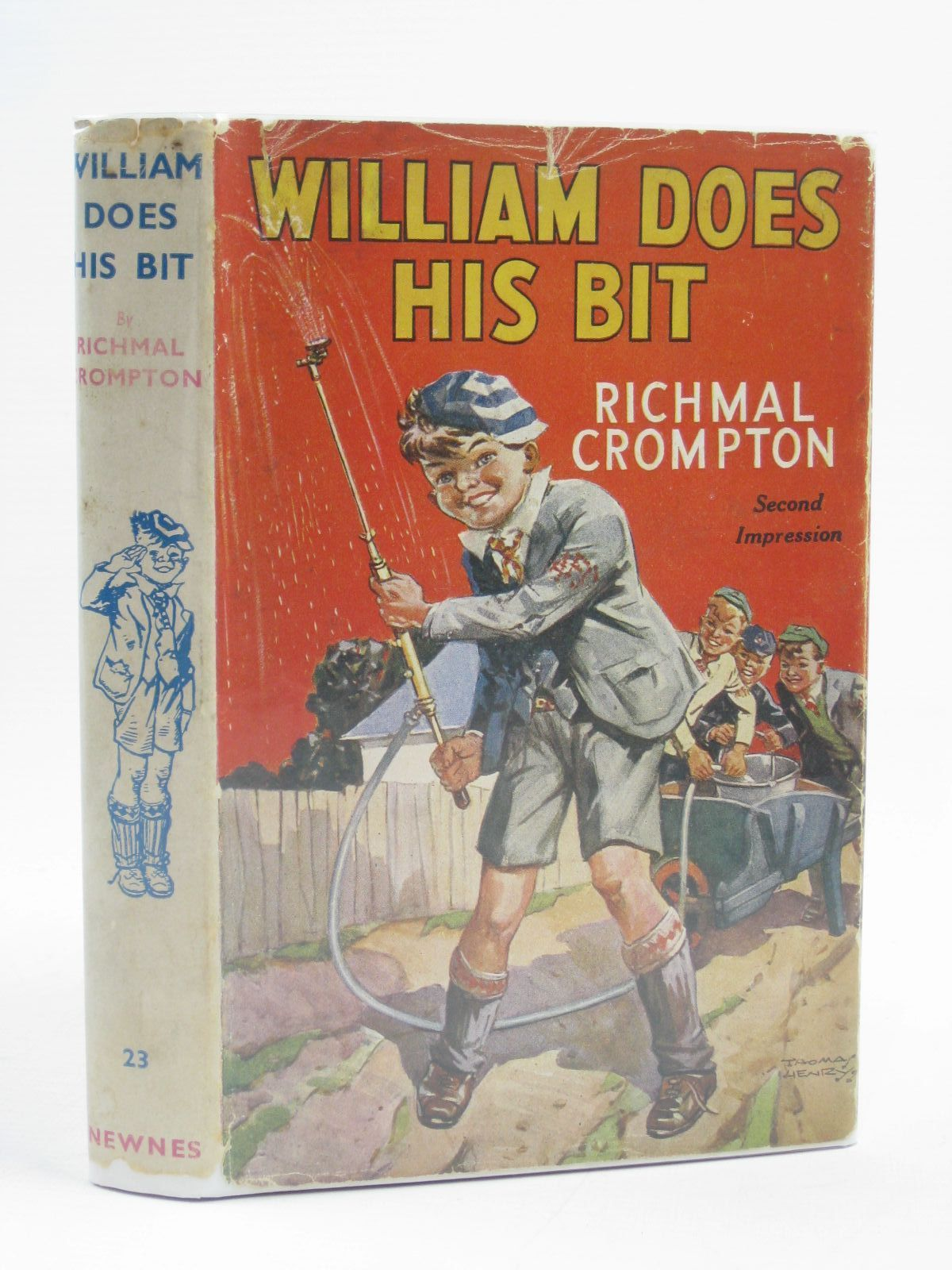 Photo of WILLIAM DOES HIS BIT written by Crompton, Richmal illustrated by Henry, Thomas published by George Newnes Limited (STOCK CODE: 1507218)  for sale by Stella & Rose's Books