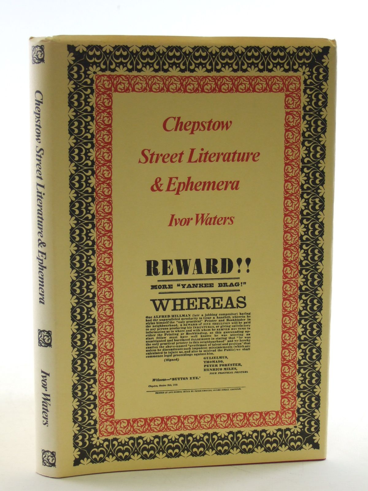 Photo of CHEPSTOW STREET LITERATURE AND EPHEMERA written by Waters, Ivor published by Moss Rose Press (STOCK CODE: 1603670)  for sale by Stella & Rose's Books