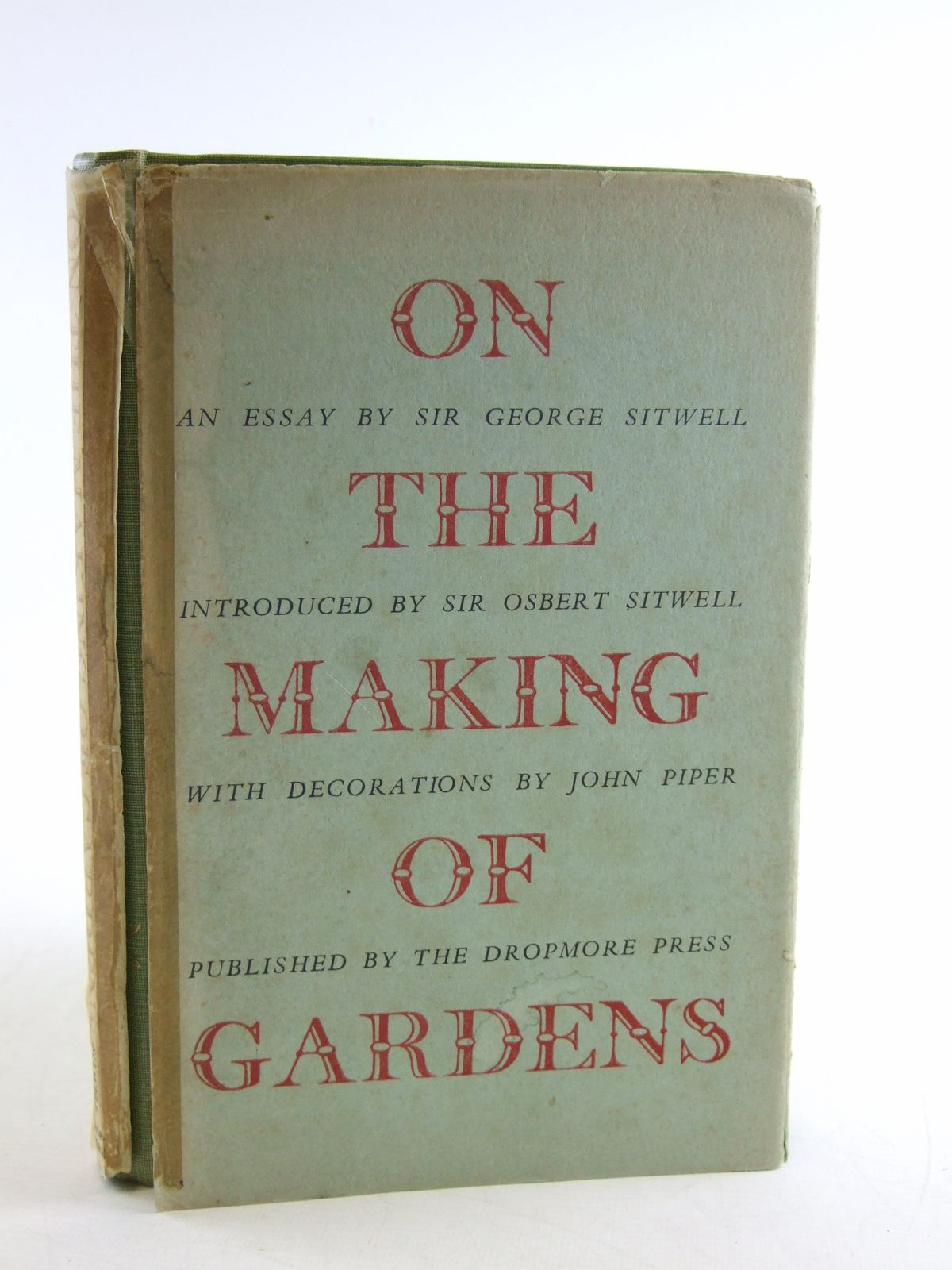 Photo of ON THE MAKING OF GARDENS written by Sitwell, George Sitwell, Osbert illustrated by Piper, John published by Dropmore Press (STOCK CODE: 1603837)  for sale by Stella & Rose's Books