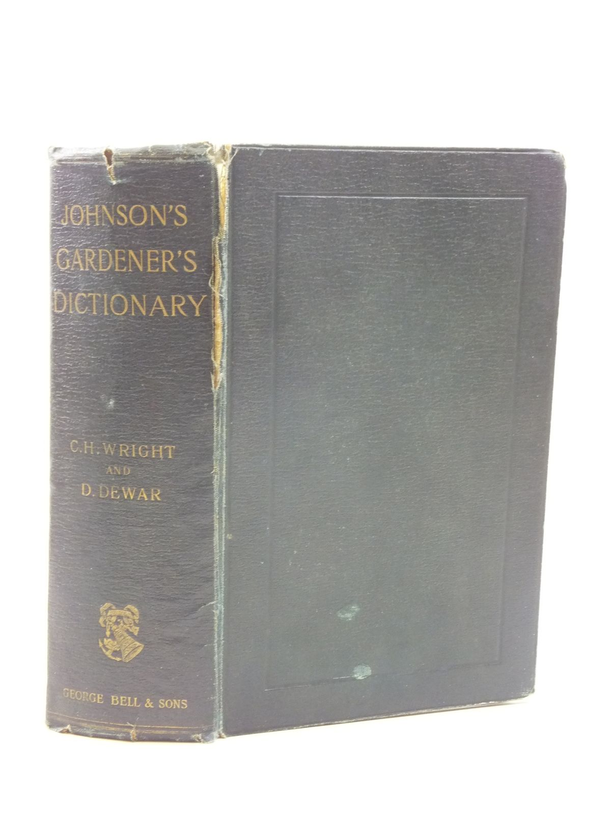 Photo of JOHNSON'S GARDENERS' DICTIONARY written by Wright, C. H. Dewar, D. published by George Bell & Sons (STOCK CODE: 1605030)  for sale by Stella & Rose's Books