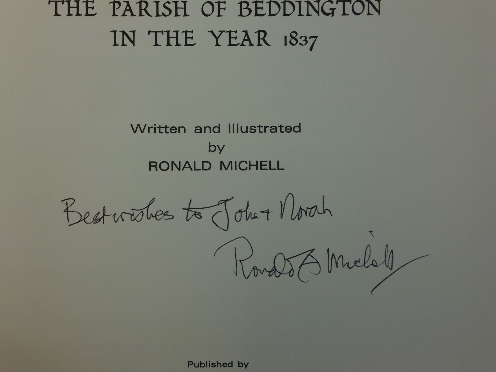 Photo of THE PARISH OF BEDDINGTON IN THE YEAR 1837 written by Michell, Ronald published by Beddington, Carshalton & Wallington Archaeological Society (STOCK CODE: 1605575)  for sale by Stella & Rose's Books