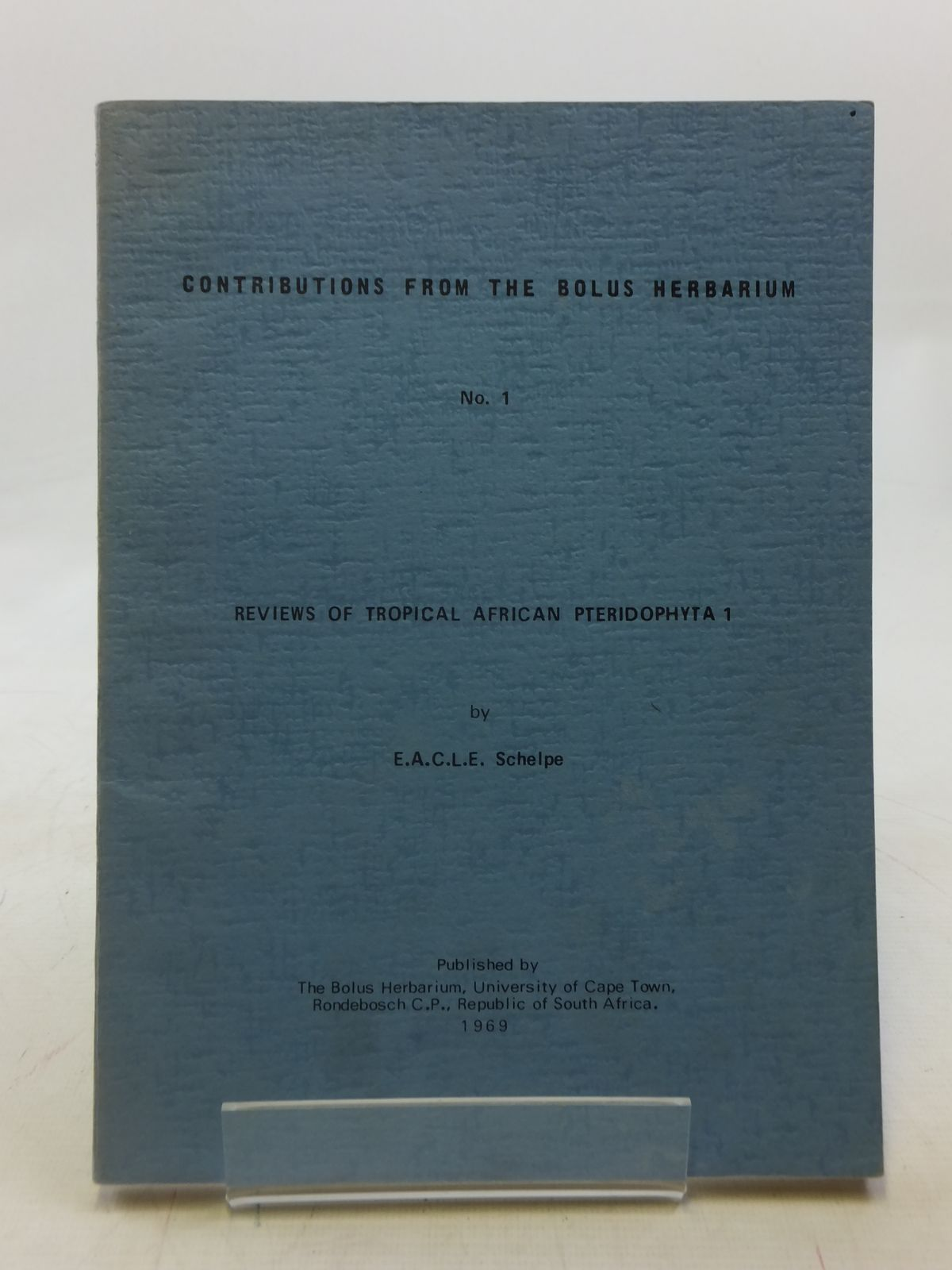 Photo of CONTRIBUTIONS FROM THE BOLUS HERBARIUM No. 1- Stock Number: 1605869