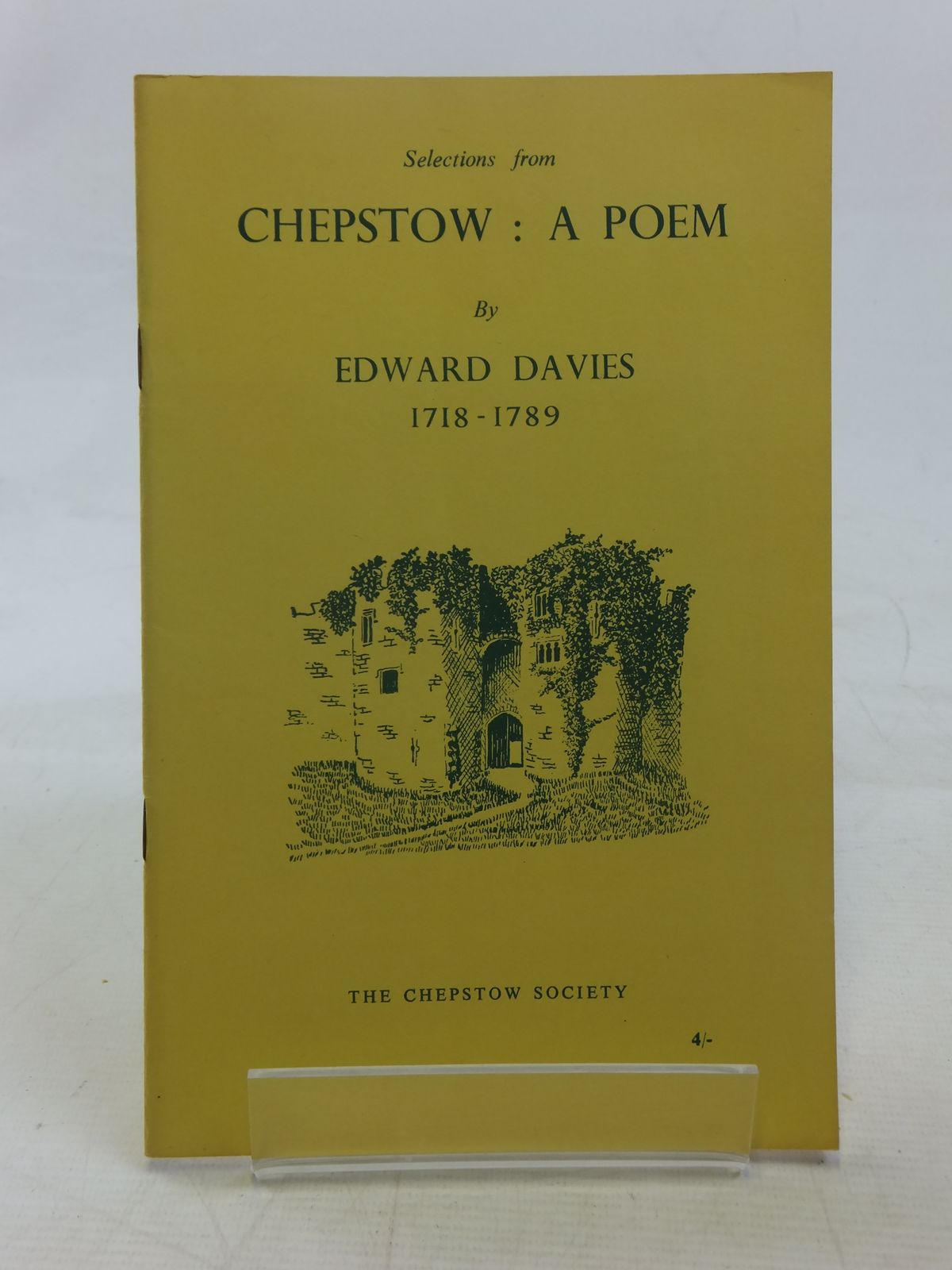 Photo of CHEPSTOW A POEM written by Davies, Edward Waters, Ivor illustrated by Waters, Mercedes published by The Chepstow Society (STOCK CODE: 1607061)  for sale by Stella & Rose's Books