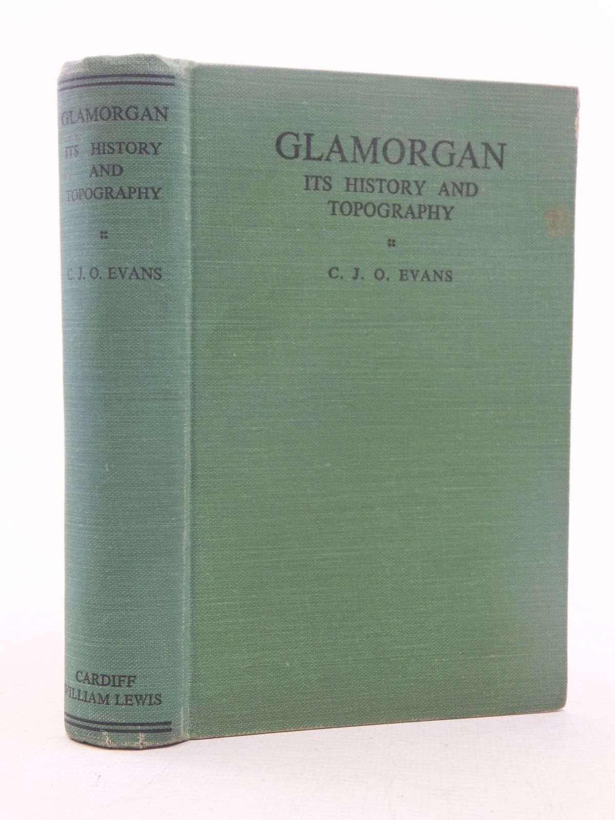 Photo of GLAMORGAN ITS HISTORY AND TOPOGRAPHY written by Evans, C.J.O. published by William Lewis (printers) Ltd (STOCK CODE: 1607260)  for sale by Stella & Rose's Books