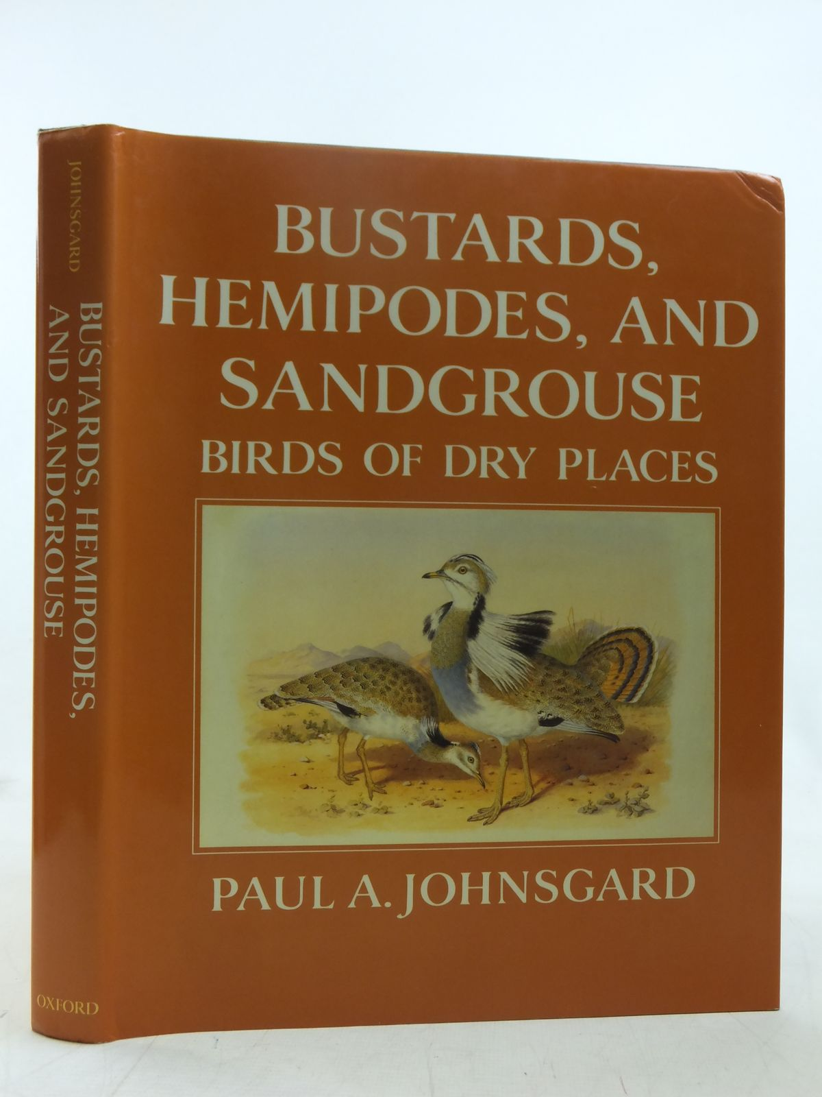 Photo of BUSTARDS, HEMIPODES, AND SANDGROUSE: BIRDS OF DRY PLACES written by Johnsgard, Paul A. illustrated by Jones, Henry published by Oxford University Press (STOCK CODE: 1607493)  for sale by Stella & Rose's Books