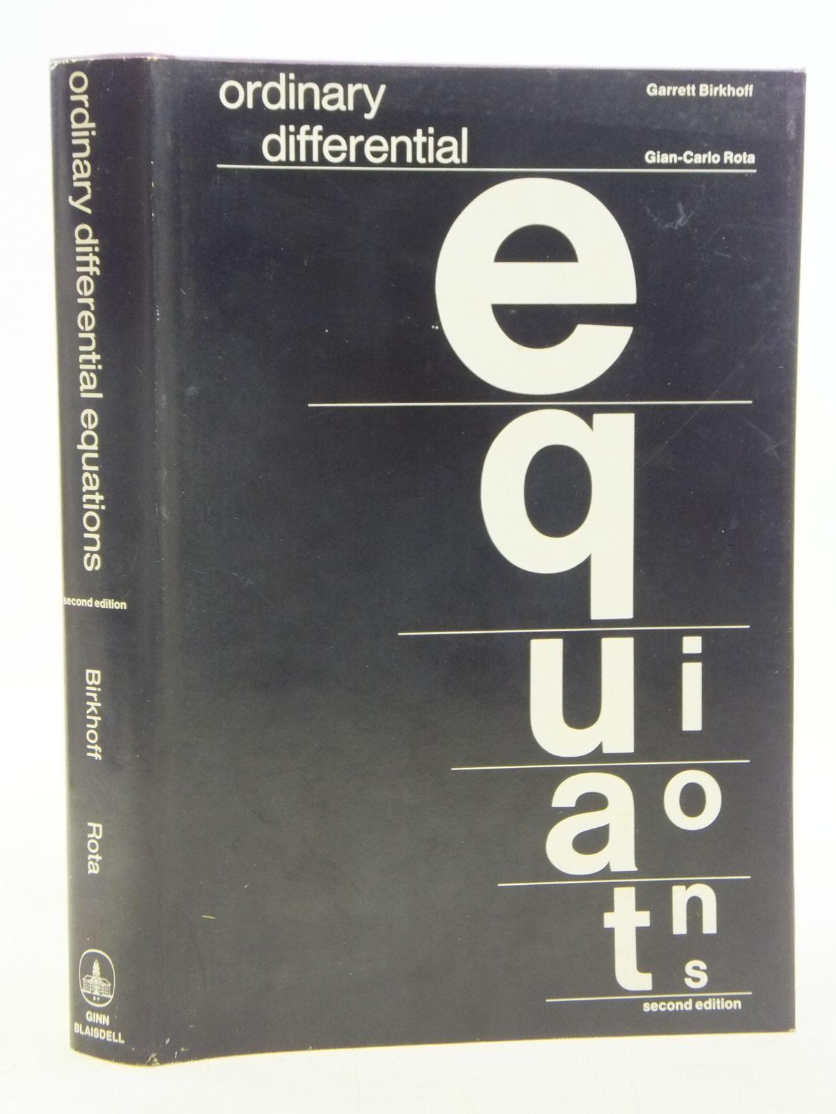 Ordinary differential equations pdf books pdf