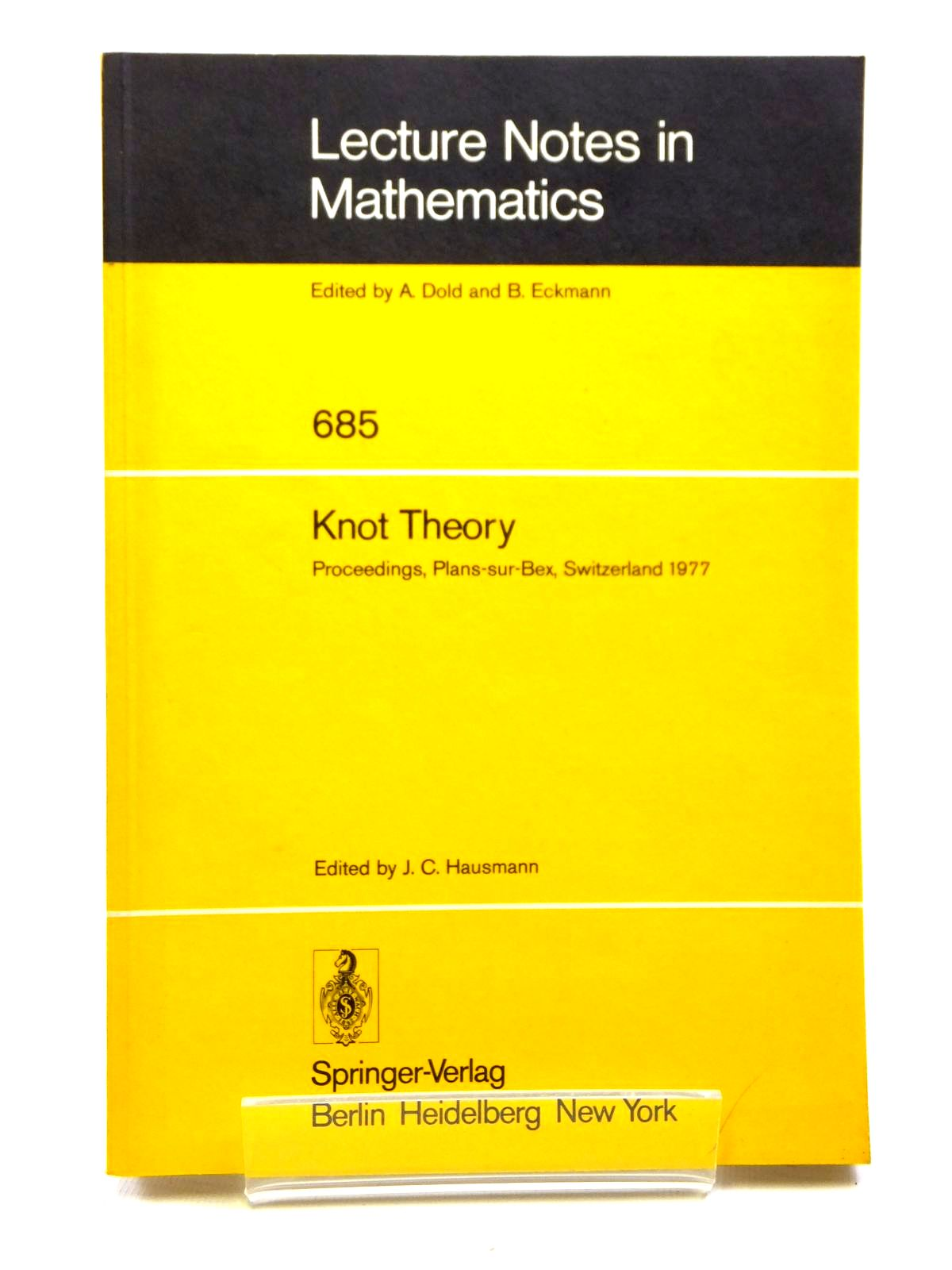 Photo of KNOT THEORY written by Hausmann, J.C. published by Springer-Verlag (STOCK CODE: 1608077)  for sale by Stella & Rose's Books