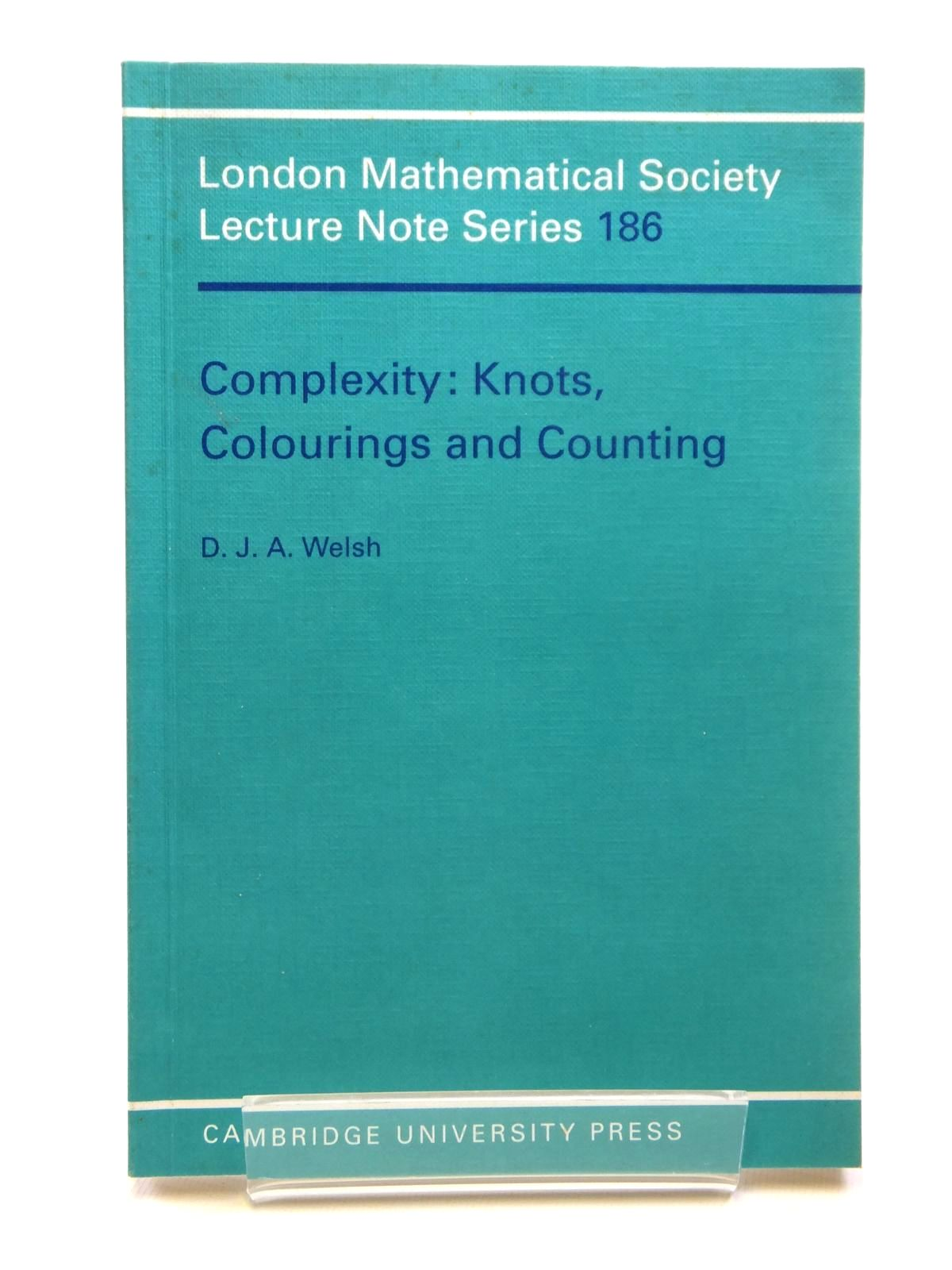Photo of COMPLEXITY: KNOTS, COLOURINGS AND COUNTING- Stock Number: 1608108