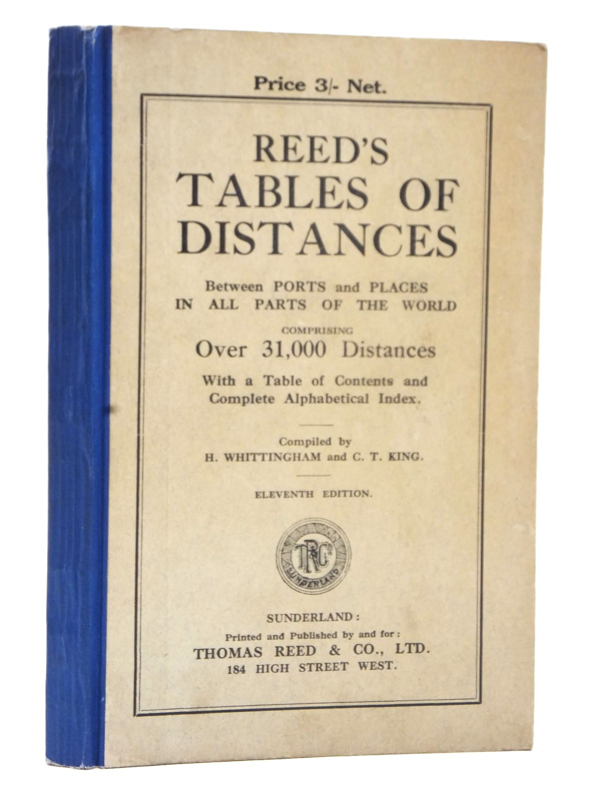Photo of REED'S TABLES OF DISTANCES- Stock Number: 1609209
