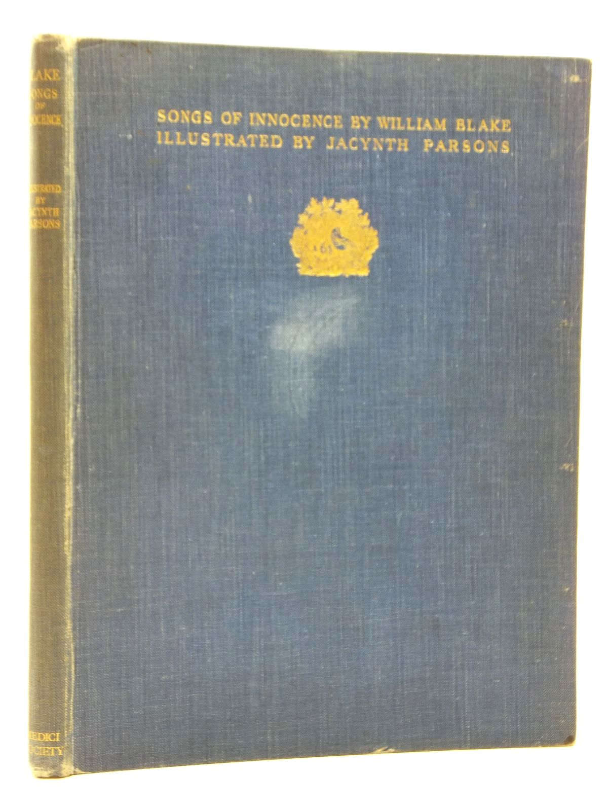 Photo of SONGS OF INNOCENCE written by Blake, William illustrated by Parsons, Jacynth published by The Medici Society Ltd. (STOCK CODE: 1609547)  for sale by Stella & Rose's Books