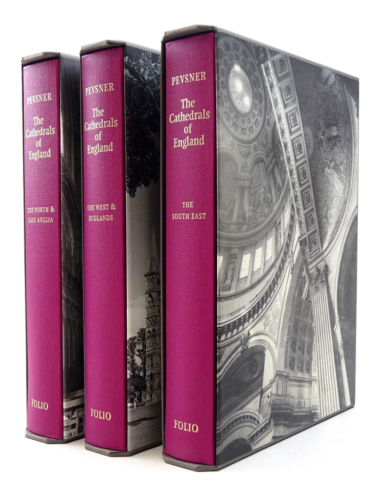 Photo of THE CATHEDRALS OF ENGLAND (3 VOLUMES) written by Pevsner, Nikolaus published by Folio Society (STOCK CODE: 1610240)  for sale by Stella & Rose's Books